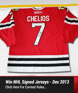 Win Chelios NHL Signed Jersey